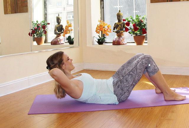 Mareike startet duch mit Pilates